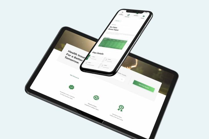 Website UX and UI work done for Religare Insurance by Analogy Design