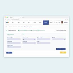 Responsive GST portal design for a tax company by Analogy Design showcasing the Eway Bill Entry form for GST