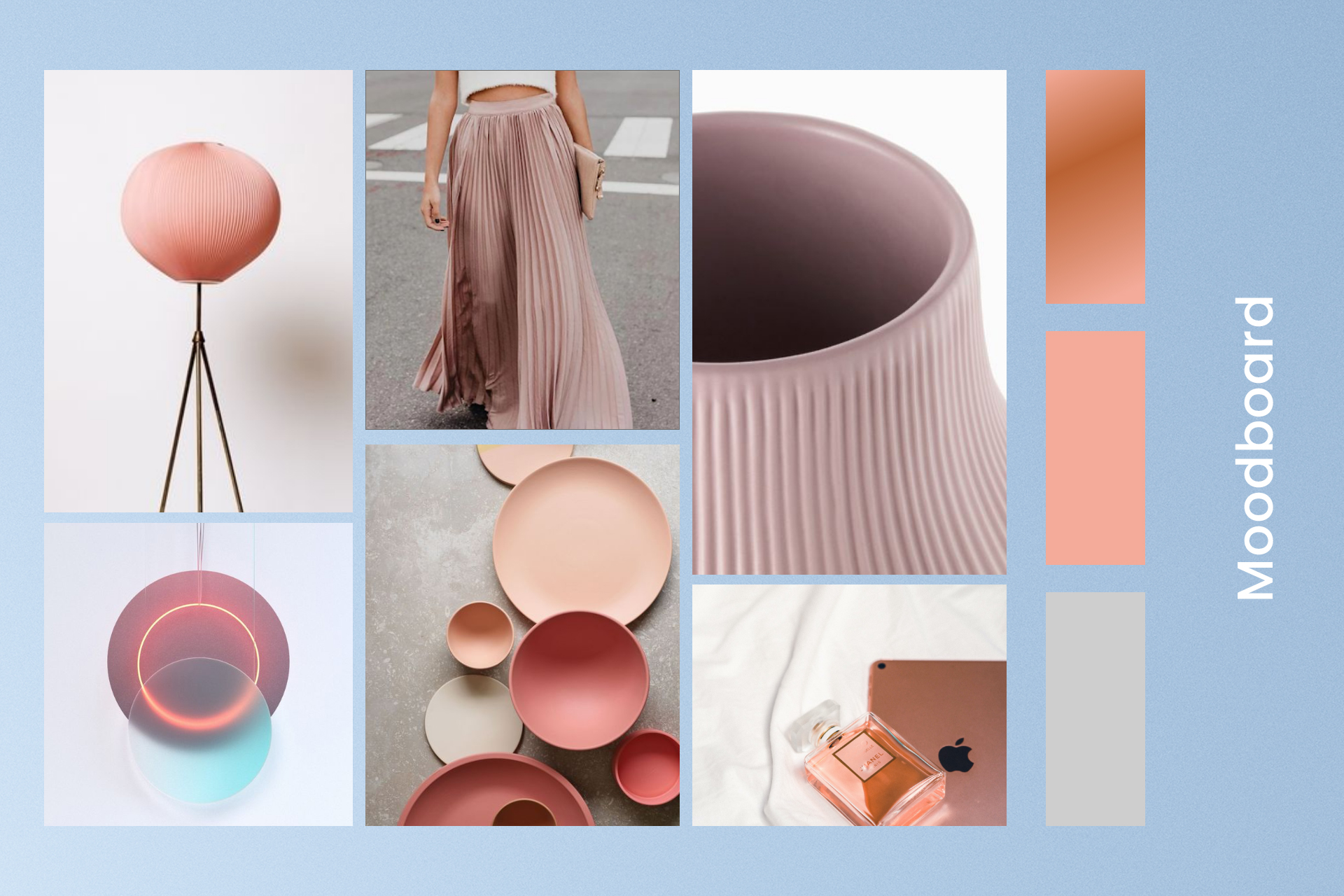 Moodboard that inspired the design